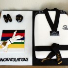 Tae Kwon-Do Black Belt Novelty Cake