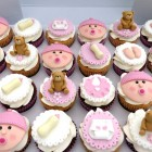 Baby Shower Christening Cupcakes Girl