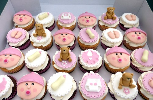 Baby Shower Christening Cupcakes Girl