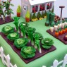 Gardeners Inspired Birthday Cake With Green House Vegetables thumbnail