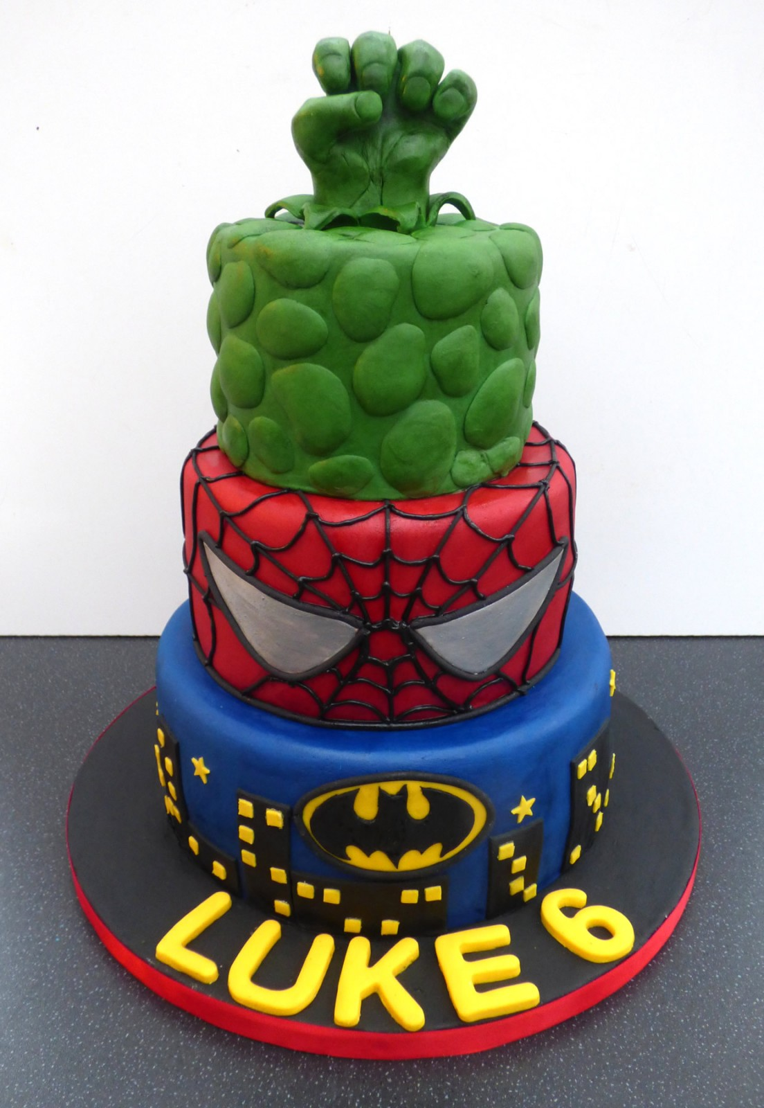 Pin Marvel Superhero Squad Birthday Cake Ideas