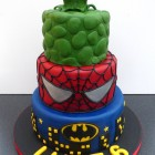 Marvel Super Heroes Cake Batman Spiderman Incredible Hulk