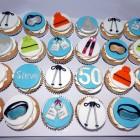 Ski Themed Cupcakes