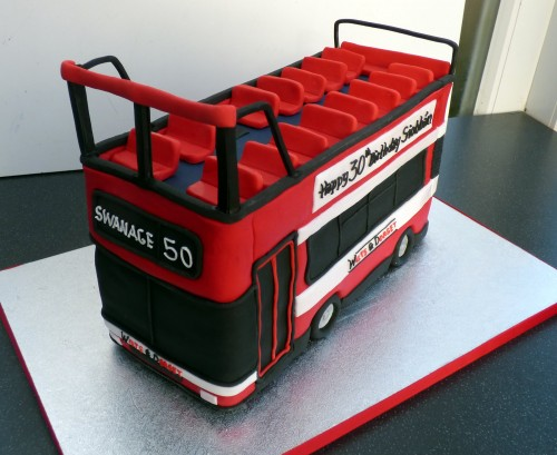 Swanage open top bus cake