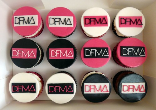dfma corporate themed cupcakes