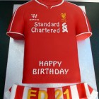 liverpool fc 2015 football shirt cake