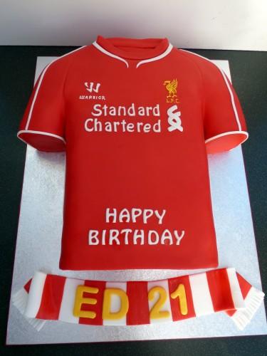 liverpool fc 2015 football shirt cake