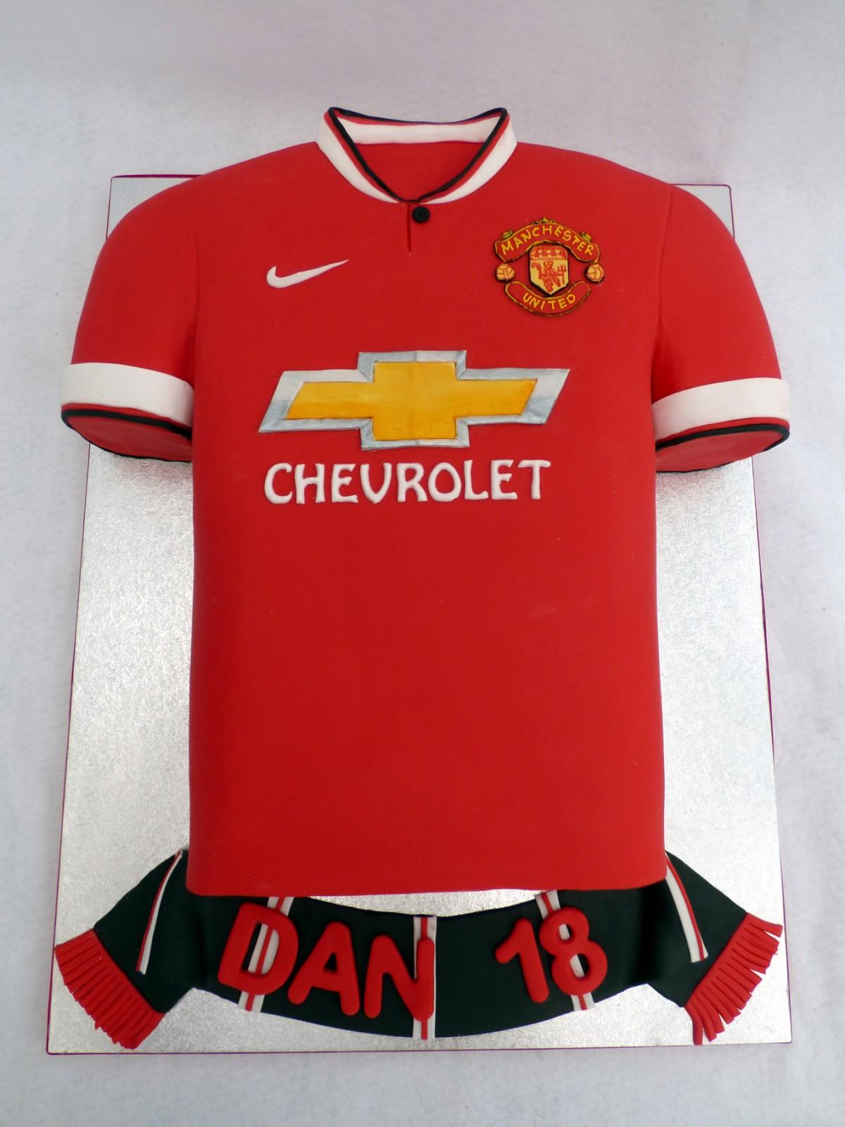 Man Utd 2015 Football Shirt Cake 171 Susie S Cakes