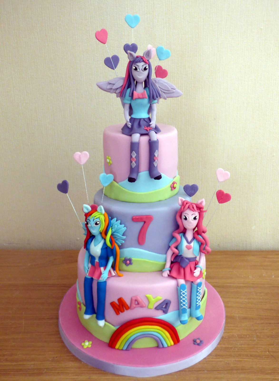 Equestria Girls Birthday Cake