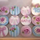 shabby chic style birthday cupcakes