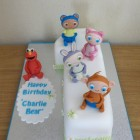 waybuloo characters 1st birthday cake with a guest appearance from elmo