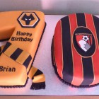 wolves and bournemouth supporters 70th birthday cake