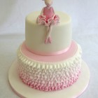 angelina ballerina 2 tier birthday cake