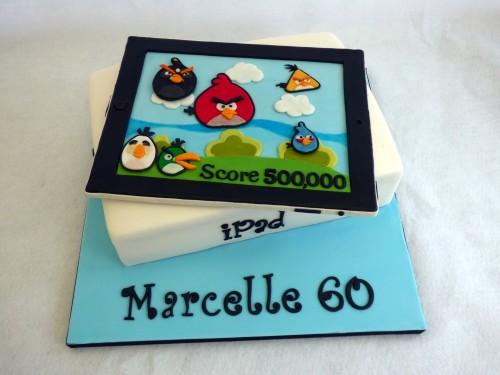 angry birds ipad novelty birthday cake