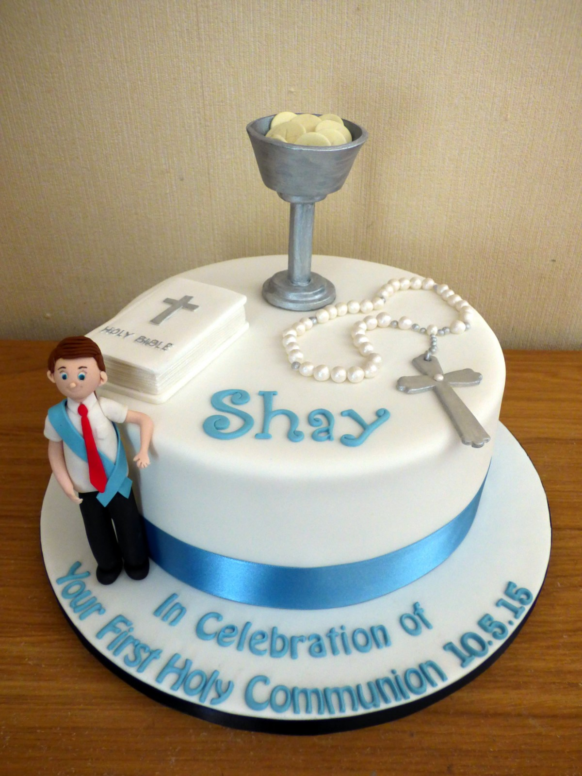 Boys holy communion cake susie 39 s cakes - Holy communion cake decorations ...