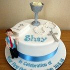 boys holy communion cake