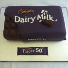 cadbury's dairy milk chocolate bar inspired birthday cake