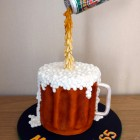can of john smiths suspended birthday cake