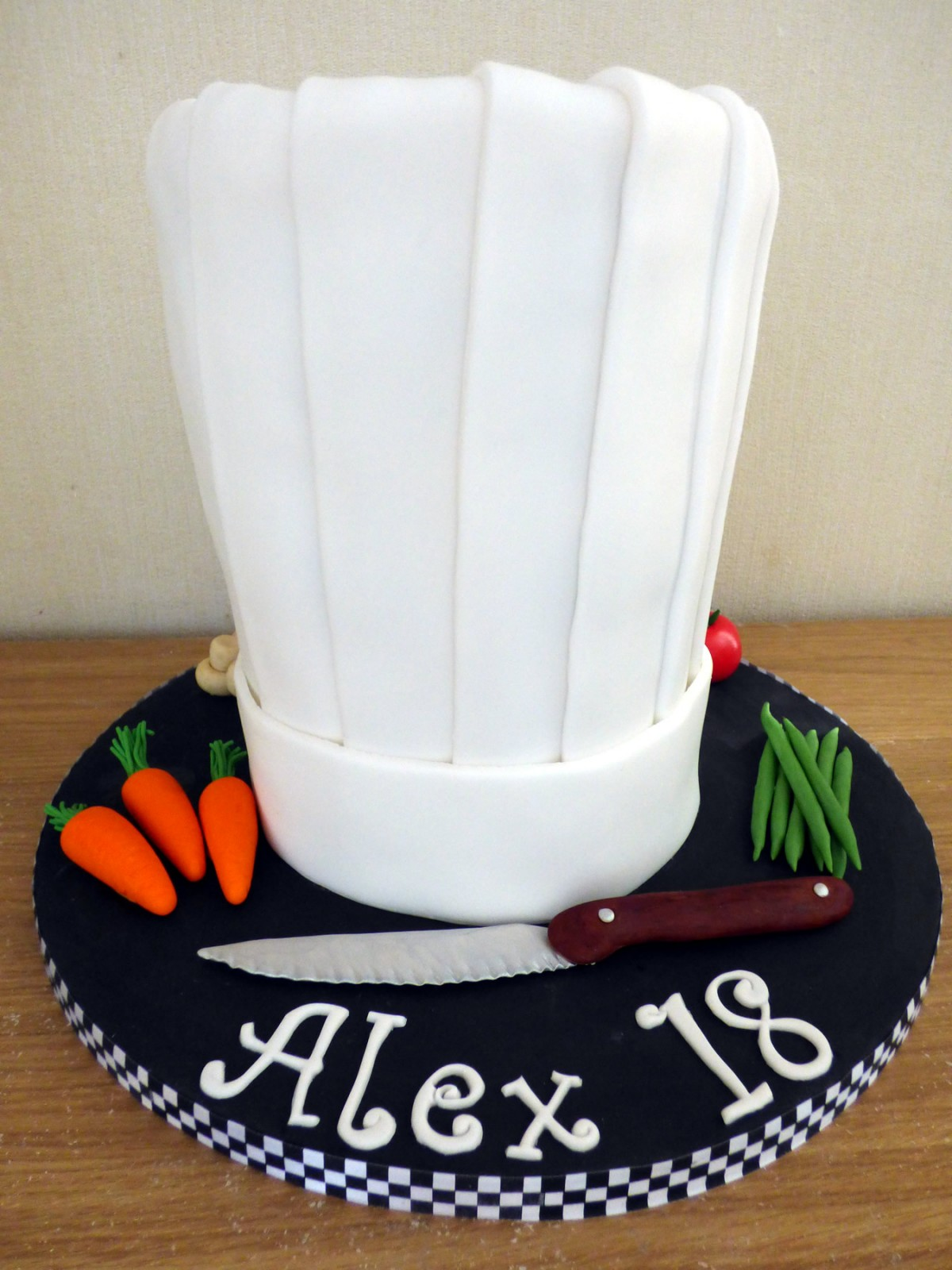Chefs Hat With Vegetables Birthday Cake