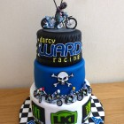 darcy ward poole pirates themed speedway 3 tier bithday cake
