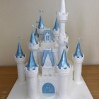 disney castle themed birthday cake