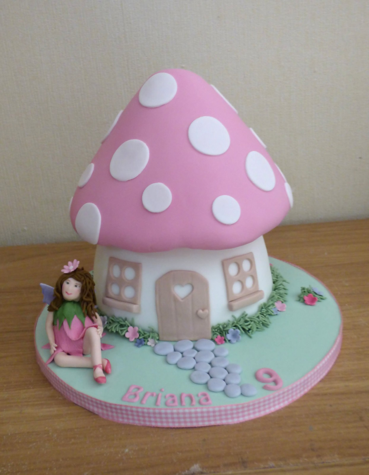 Terrific Fairy Toadstool Birthday Cake Susies Cakes Funny Birthday Cards Online Overcheapnameinfo