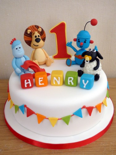 favourite toys 1st birthday cake