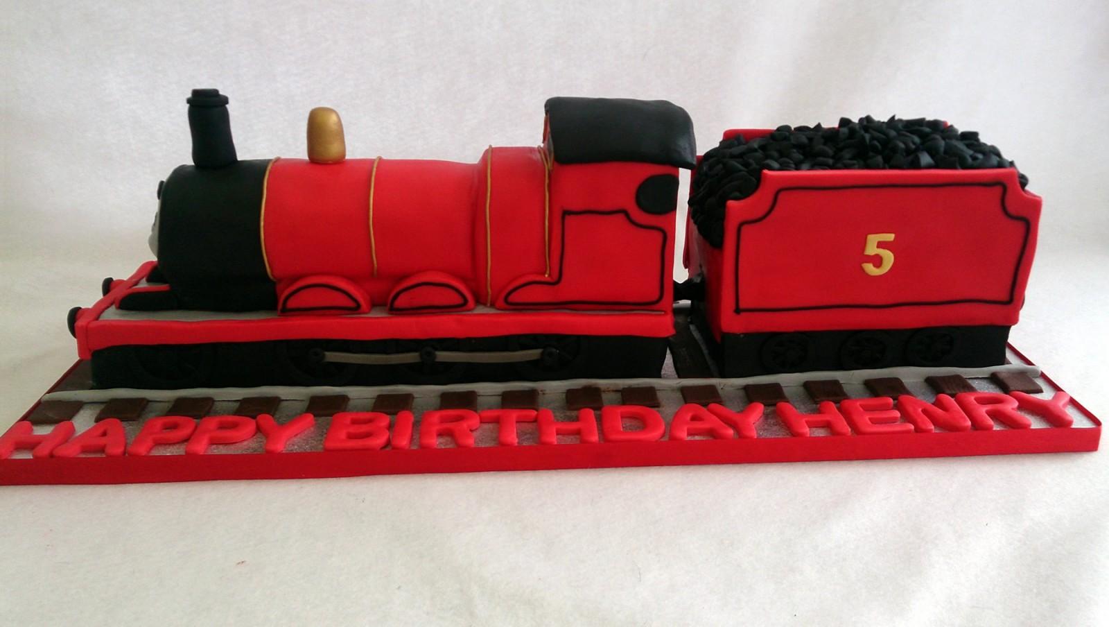 Awesome James Thomas The Tank Engine Birthday Cake Susies Cakes Personalised Birthday Cards Sponlily Jamesorg