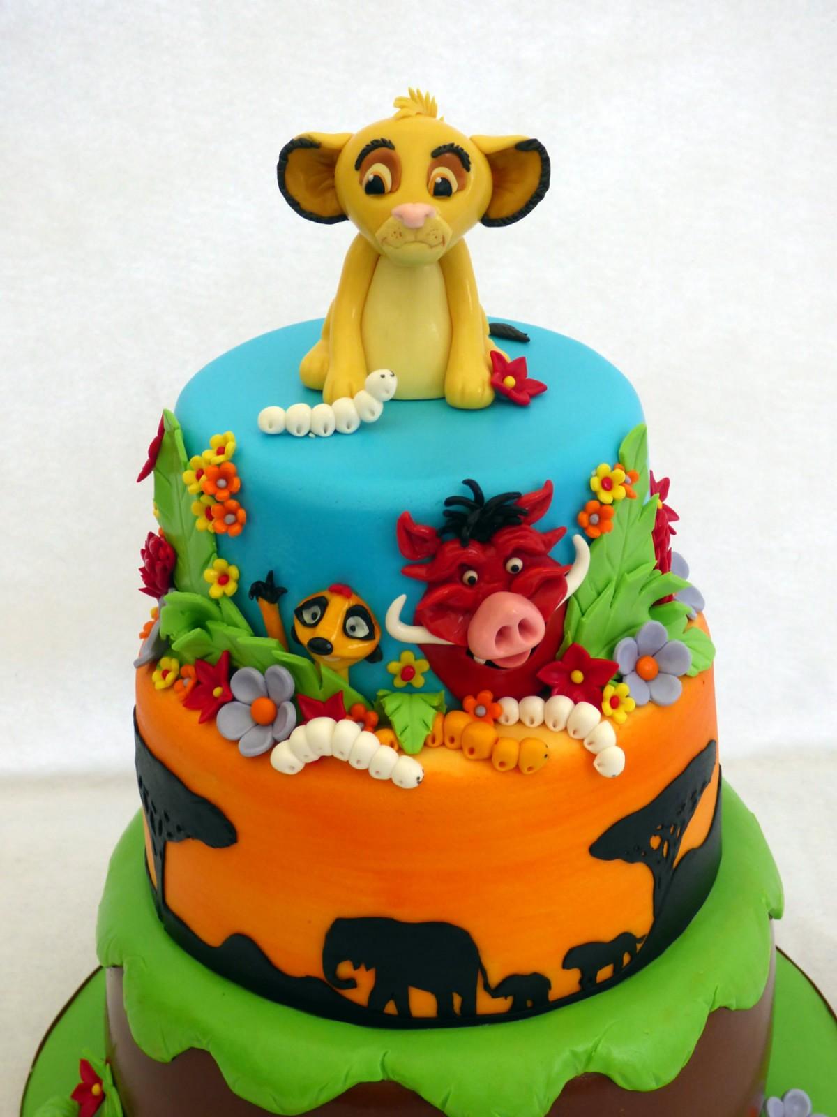 Lion King 3 Tier Birthday Cake 171 Susie S Cakes