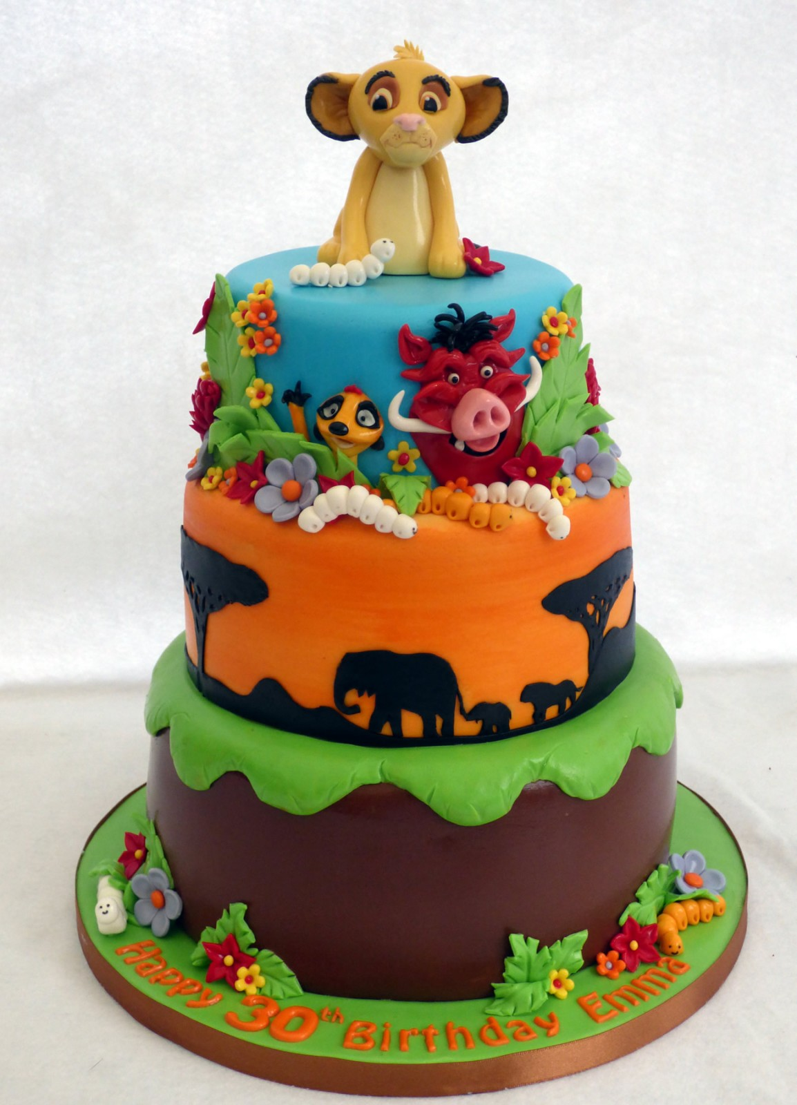 Incredible Lion King 3 Tier Birthday Cake Susies Cakes Funny Birthday Cards Online Fluifree Goldxyz
