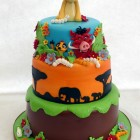 lion king 3 tier birthday