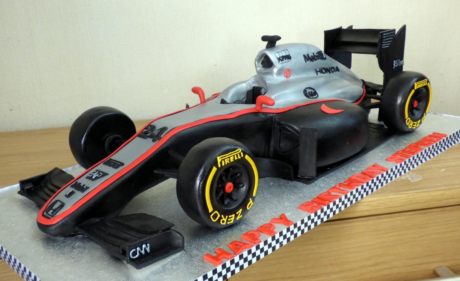 McLaren F1 2015 Race Car Birthday Cake « Susies Cakes