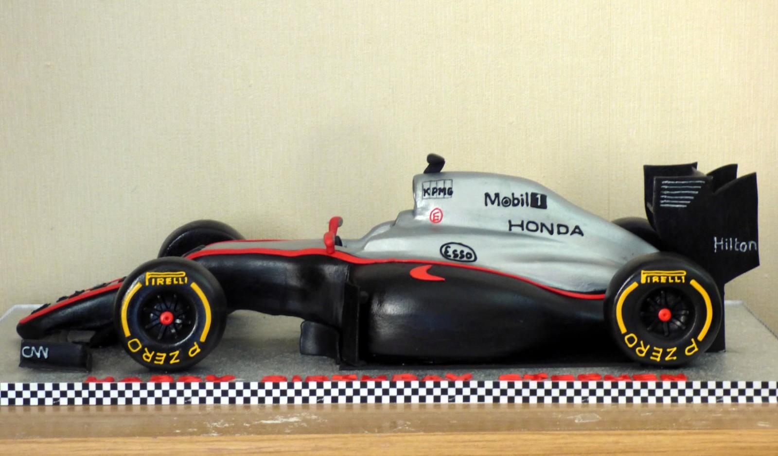 McLaren F1 2015 Race Car Birthday Cake Susies Cakes
