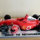 michael schumacher's ferrari racing car birthday cak