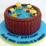 minions in a hot tub birthday cake thumbnail