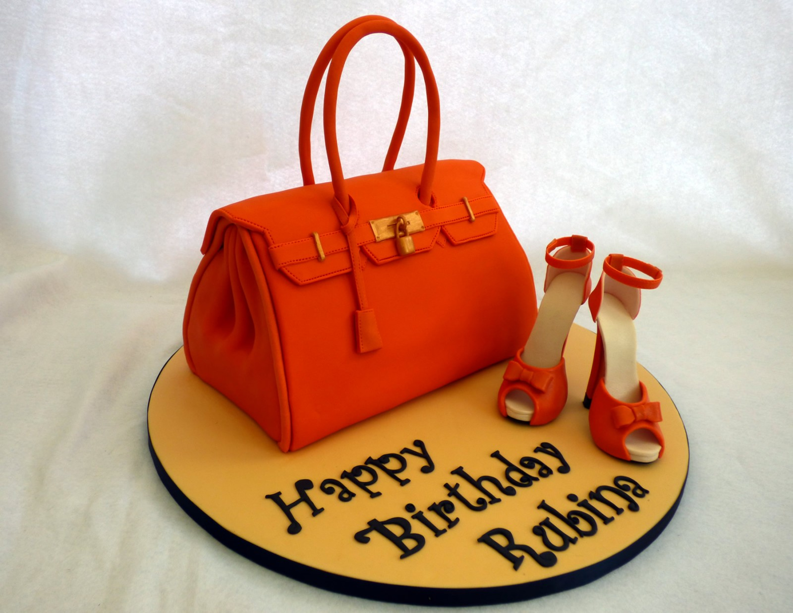 Designer Handbag And Shoe Cakes