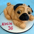 pug novelty birthday cake