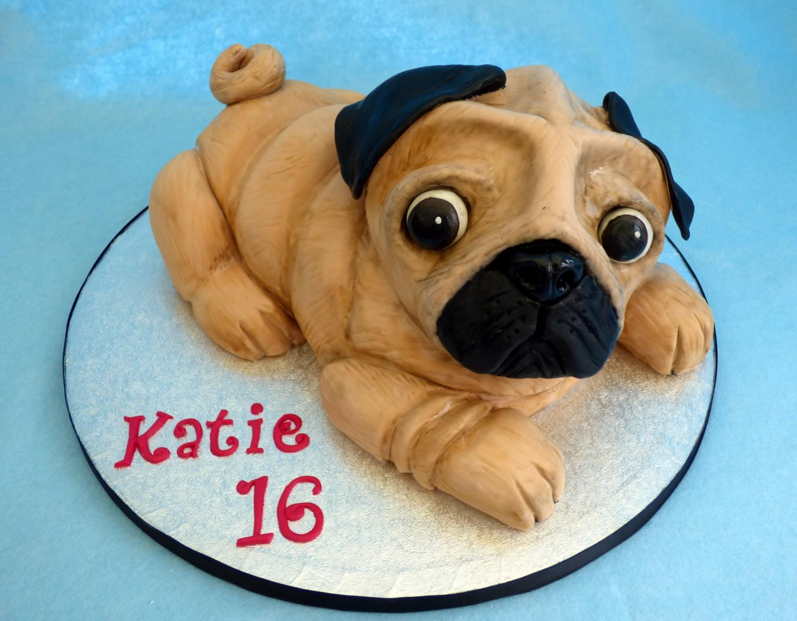 Fantastic Pug Dog Novelty Birthday Cake Susies Cakes Funny Birthday Cards Online Bapapcheapnameinfo