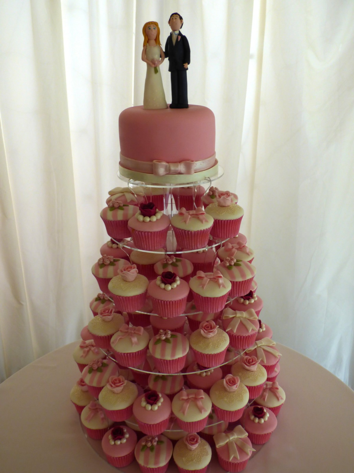 Shabby Chic Wedding Cupcake Tower 171 Susie S Cakes