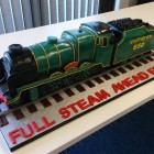the lord nelson steam engine birthday-retiremant cake