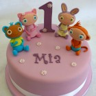 waybuloo characters novelty 1st birthday cake