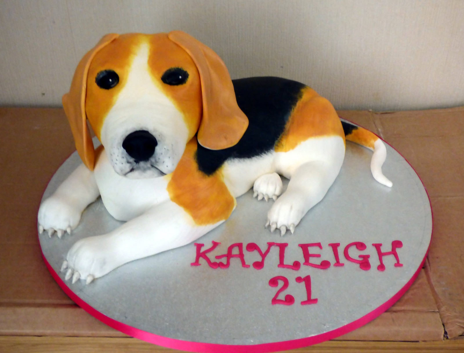 Beagle Novelty Birthday Cake