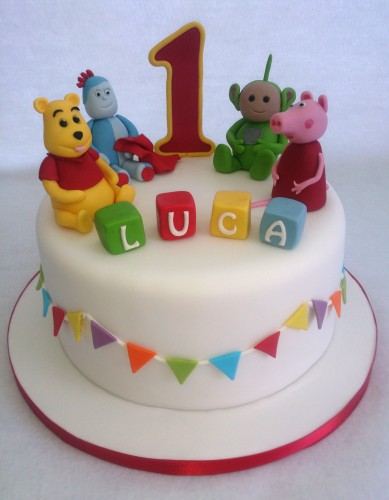 childs favourite toys 1st birthday cake