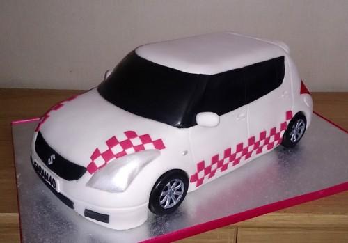customised suzuki swift birthday cake