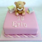 forever friend bear reading books cake