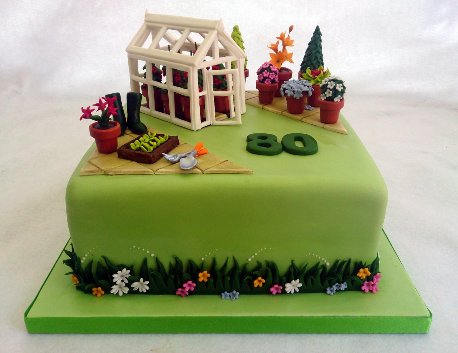 Greenhouse With Tomato Plants Gardeners Birthday Cake Susies Cakes