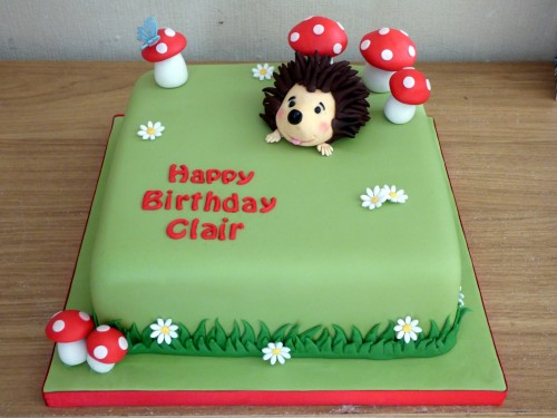hedgehog birthday cake