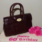 mulberry bayswater oxblood handbag birthday cake