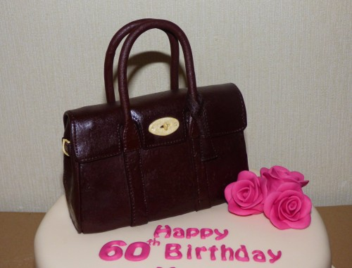 mulberry bayswater oxblood handbag birthday cake