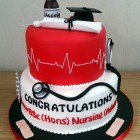 nurses, aduult nursing graduation cake